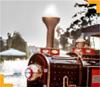 smoke machine trackless train